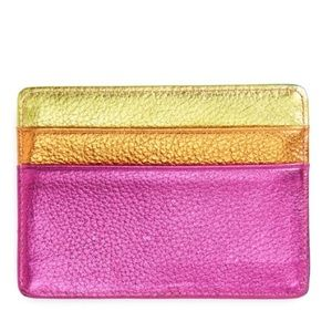 Kurt Geiger Metallic Rainbow Leather Card Holder